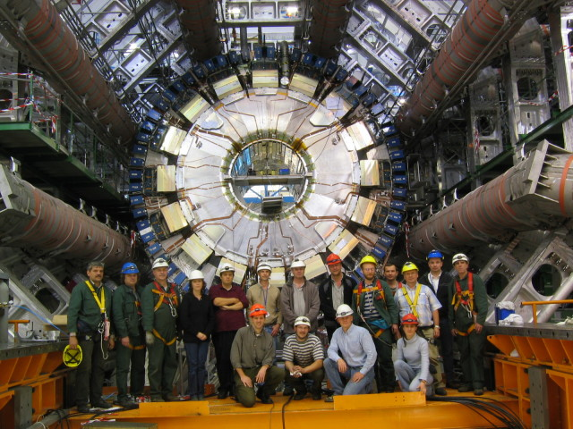 CERN teamwork installing Atlas where exceptional teamwork and collaboration are critical