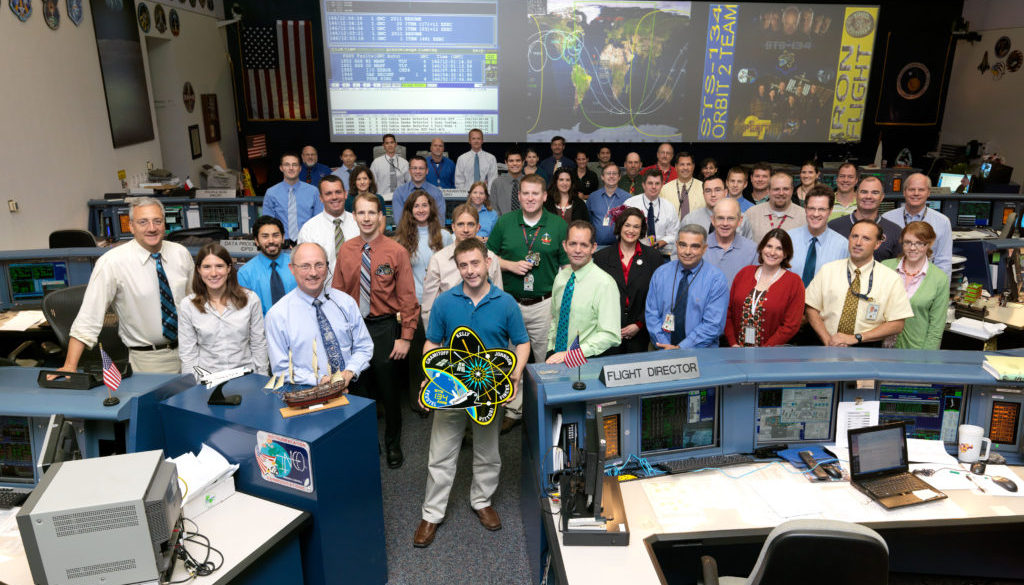 NASA Mission Control team