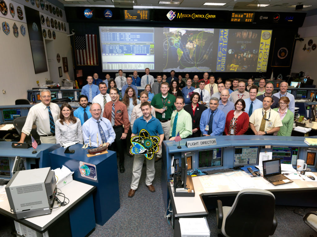 NASA Mission Control team