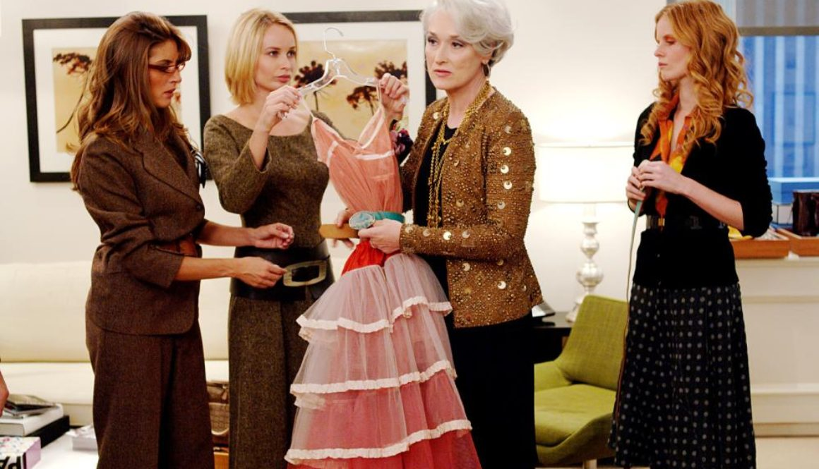 Meryl Streep as the bad boss in the movie The Devil Wears Prada